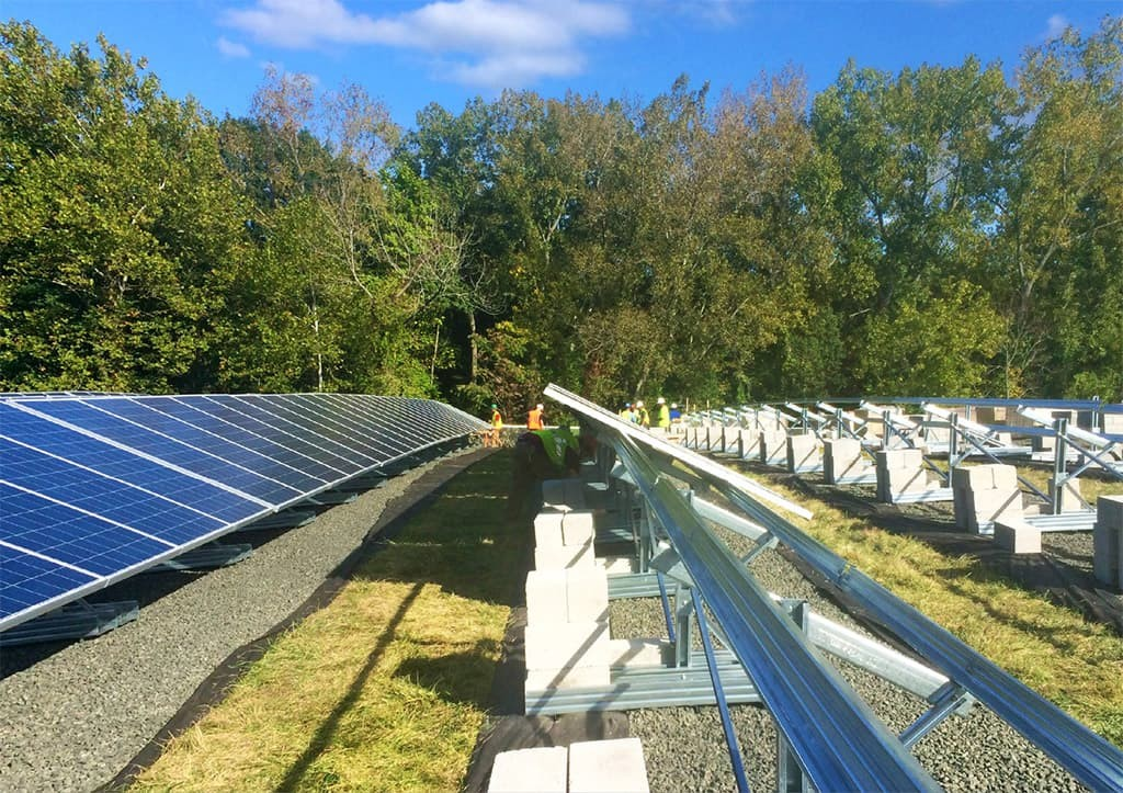 Solar Array Cap Rack Installation Meriden Landfill Case Study